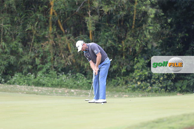 Graeme McDowell (NIR) on the 12th green during Round 1 of the 2015 UBS Hong Kong Open at the Hong Kong Golf Club in The Netherlands on 2/10/15.<br /> Picture: Thos Caffrey | Golffile
