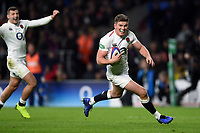 Owen Farrell of England runs in a second half try. Quilter International match between England and Australia on November 24, 2018 at Twickenham Stadium in London, England. Photo by: Patrick Khachfe / Onside Images