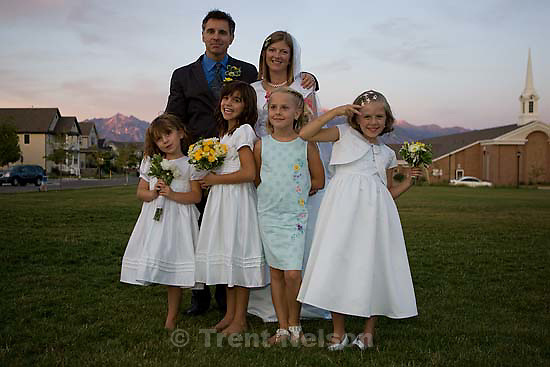 Maddie Quayle, Dave Scott wedding.Monday August 3, 2009 in South Jordan. drew, parker, camilla wickman