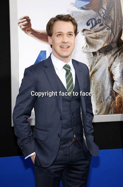 """T.R. Knight attending the """"42"""" Los Angeles Premiere at the TCL Chinese Theater on April 9, 2013 in Hollywood, California. ..Credit: PopularImages/face to face"""