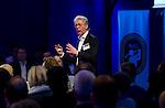 UTRECHT -  Hugo van der Poel, A tribe called Golf, de kracht van de connectie. Nationaal Golf Congres van de NVG 2014 , Nederlandse Vereniging Golfbranche. COPYRIGHT KOEN SUYK