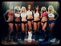 Ring girls at Mixed Martial Arts fight