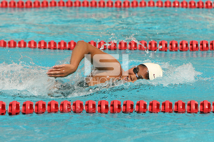 STANFORD, CA - OCTOBER 3:  Jessica Rodriguez of the Stanford Cardinal during Stanford's 170-102 win over San Jose State on October 3, 2008 at the Avery Aquatic Center in Stanford, California.