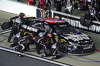 12-13 February, 2016, Daytona Beach, Florida, USA<br /> Martin Truex Jr, Furniture Row Toyota Camry makes a pit stop.<br /> ©2016, F. Peirce Williams