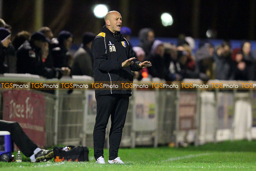 Adam Murray, caretaker manager of Mansfield Town - Concord Rangers vs Mansfield Town - FA Challenge Cup 1st Round Replay Football at the Aspect Arena, Thames Road, Canvey Island, Essex - 25/11/14 - MANDATORY CREDIT: Gavin Ellis/TGSPHOTO - Self billing applies where appropriate - contact@tgsphoto.co.uk - NO UNPAID USE