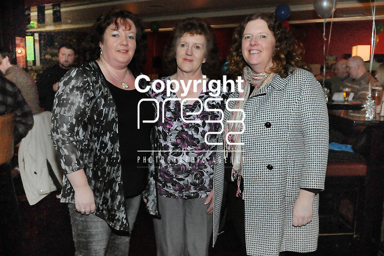 30/1/2015  Attending the 100 Miles Charity Race Night at Russells Bar, Raheen, were Elaine Hogan, Mary Hogan and Marie Stewart, Dooradoyle.<br /> Pic: Gareth Williams / Press 22