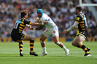 Jack Nowell of Exeter Chiefs is tackled by Danny Cipriani of Wasps during the Premiership Rugby Final at Twickenham Stadium on Saturday 27th May 2017 (Photo by Rob Munro)