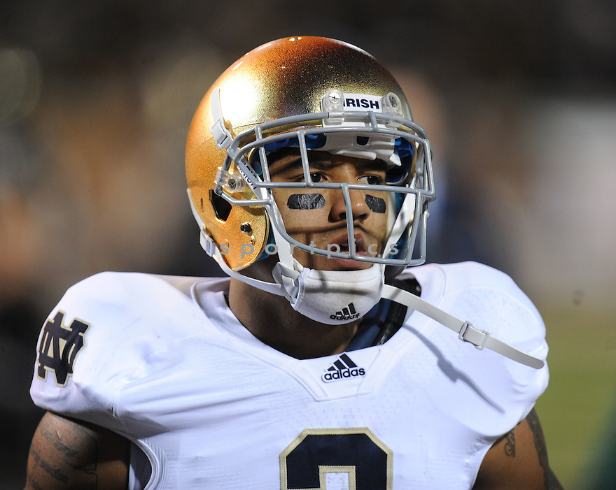 MICHAEL FLOYD, of Notre Dame, in action during Notre Dame's game against Wake Forest on November 5, 2011 at BB&T Field in Winston-Salem, NC. Notre Dame beat Wake Forest 24-17.