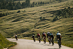 Riders descend during Stage 10 of the 2018 Tour de France running 158.5km from Annecy to Le Grand-Bornand, France. 17th July 2018. <br /> Picture: ASO/Pauline Ballet | Cyclefile<br /> All photos usage must carry mandatory copyright credit (&copy; Cyclefile | ASO/Pauline Ballet)