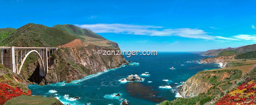 Bixby Bridge, Composite, Central Coast, CA CGI Backgrounds, ,Beautiful Background