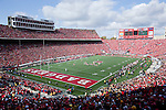 October 17, 2009: A general view of Camp Randall Stadium during the Wisconsin Badgers NCAA football game against the Iowa Hawkeyes on October 17, 2009 in Madison, Wisconsin. The Hawkeyes won 20-10. (Photo by David Stluka)