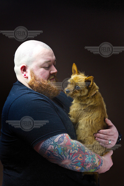 Dez Johnston, 31, theology student and security guard, from Lenzie.<br /> <br /> 'I describe my hair as highland auburn but it only appears in my beard.'  <br /> <br /> 'Strangely, no one in my family has ginger hair.  I grew up in the highlands in Speyside so maybe it came from the whisky? It's in the water!' <br /> <br /> 'A few mates have it, and our dog Pixie, the destroyer… I wanted a dog to go with my beard! I only noticed it recently when I actually grew the beard.'  <br /> <br /> During summer I work at festivals and it comes up bright in the sun. Like a see-you-jimmy hat. People comment You have a cracking beard mate!<br /> <br /> 'I've never really had a problem in life with people insulting me, I can get quite fiery.'