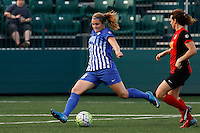 Rochester, NY - Friday May 27, 2016: Boston Breakers defender Julie King (8). The Western New York Flash defeated the Boston Breakers 4-0 during a regular season National Women's Soccer League (NWSL) match at Rochester Rhinos Stadium.