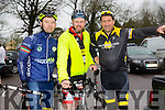 At The Kerry Crusader cycle club in association with Orbis scenic challenge on Sunday Starting at the Listowel community centre were Brian Carey, Paddy Griffin and Adrian O'Leary