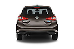 Straight rear view of a 2015 Nissan Pulser Acenta 5 Door Hatchback 2WD Rear View  stock images