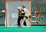 5 April 2008: University of Vermont Catamounts' Midfielder Megan MacDonald, a Freshman from Wayland, MA, scores in the first half of play against the University at Albany Great Danes at Moulton Winder Field, in Burlington, Vermont. With only seconds left in regulation time, the Catamounts rallied to defeat the visiting Danes 11-10 in America East conference play...Mandatory Photo Credit: Ed Wolfstein Photo