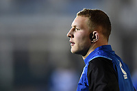 Sam Underhill of Bath Rugby looks on during the pre-match warm-up. European Rugby Champions Cup match, between Bath Rugby and the Scarlets on January 12, 2018 at the Recreation Ground in Bath, England. Photo by: Patrick Khachfe / Onside Images