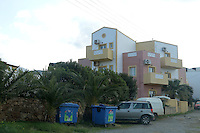 Pictured: Frixos Hotel where Steven Cook was staying when he disappeared in Malia, Creete, Greece. Monday 20 February 2017<br /> Re: Police have found the remains of the body in a well near a cemetery in Malia, on the Greek island of Crete with local news outlets speculating that it maybe that of 20 year old Briton Steven Cook who went missing on the 1st of September 2005. A disposable camera and a belt were reportedly found next to the remains.