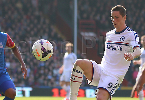 29.03.2014 London, England.  Fernando Torres in action during the Barclays Premier League fixture between Crystal Palace and Chelsea from Selhurst Park