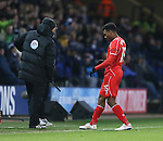 Daniel Sturridge of Liverpool walks backwards onto the pitch as he comes on as a second half substitute - FA Cup Fourth Round replay - Bolton Wanderers vs Liverpool - Macron Stadium  - Bolton - England - 4th February 2015 - Picture Simon Bellis/Sportimage