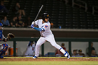 Mesa Solar Sox catcher Jhonny Pereda (6), of the Chicago Cubs organization, at bat during an Arizona Fall League game against the Scottsdale Scorpions at Sloan Park on October 10, 2018 in Mesa, Arizona. Scottsdale defeated Mesa 10-3. (Zachary Lucy/Four Seam Images)
