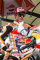 3rd November 2019; Sepang Circuit, Sepang Malaysia; MotoGP Malaysia, Race Day;  The number 93 Repsol Honda Team rider Marc Marquez before the race - Editorial Use