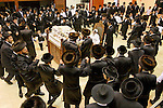 Israel, Bnei Brak. The Synagogue of the Premishlan congregation, Simchat Torah (on the eights day of Succot), Hassidic dances 2005<br />
