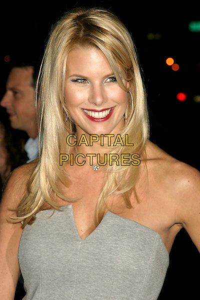 """BETH OSTROSKY.Special screening of """"Smart People"""" hosted by The Cinema Society.at the Landmark Sunshine Cinema, New York, NY, USA..March 31st, 2008.headshot portrait red lipstick  grey gray strapless hoop earrings .CAP/LNC/TOM.©TOM/LNC/Capital Pictures."""