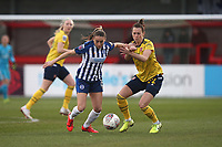 Kayleigh Green of Brighton and Viktoria Schnaderbeck of Arsenal during Brighton & Hove Albion Women vs Arsenal Women, Barclays FA Women's Super League Football at Broadfield Stadium on 12th January 2020