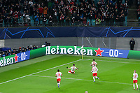 10th March 2020, Red Bull Arena, Leipzig, Germany; EUFA Champions League, RB Leipzig v Tottenham Hotspur;  Marcel Sabitzer 7, celebrates as he scores with a shot for 1-0