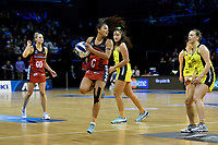 Tactix&rsquo; Kimiora Poi in action during the ANZ Premiership - Pulse v Tactix at TSB Arena, Wellington, New Zealand on Monday 14 May 2018.<br /> Photo by Masanori Udagawa. <br /> www.photowellington.photoshelter.com