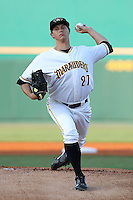 April 21, 2010 LHP Jeff Locke of the Bradenton Marauders, Florida State League Class-A affiliate of the Pittsburgh Pirates, during a game at McKenhnie Field in Bradenton Fl. Photo by: Mark LoMoglio/Four Seam Images