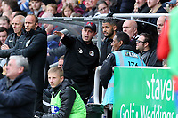 O's coach ROss Embleton & Player coach Jobi McAnuff during Northampton Town vs Leyton Orient, Sky Bet EFL League 2 Football at Sixfields Stadium on 5th October 2019