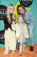 NEW YORK, NY - NOVEMBER 4: Savannah LaBrant, Everleigh LaBrant, Cole LaBrant  at the 2017 Nickelodeon Halo Awards at Pier 36 in New York City on November 4, 2017. Credit: RW/MediaPunch /NortePhoto.com