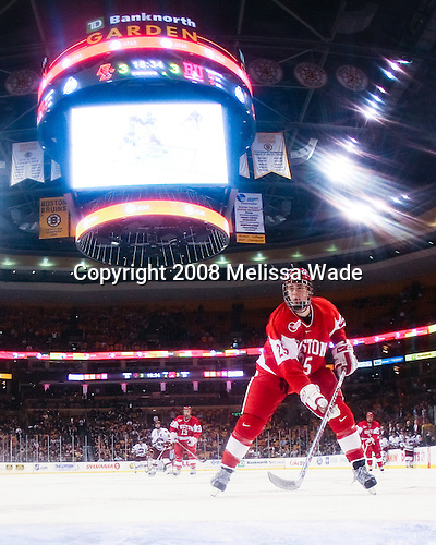 Colby Cohen (BU 25) - The Boston College Eagles defeated the Boston University Terriers 4-3 in overtime in their first Monday Beanpot matchup on February 4, 2008 at the TD Banknorth Garden in Boston, Massachusetts.