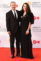 John Simm and wife, Kate McGowan arriving for the BAFTA TV Awards 2018 at the Royal Festival Hall, London, UK. <br /> 13 May  2018<br /> Picture: Steve Vas/Featureflash/SilverHub 0208 004 5359 sales@silverhubmedia.com