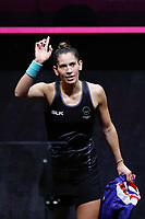 Joelle King of New Zealand reacts after winning against Sarah-Jane Perry of England in the Women's Singles Final. Gold Coast 2018 Commonwealth Games, Squash, Oxenford Studios, Gold Coast, Australia. 9 April 2018 © Copyright Photo: Anthony Au-Yeung / www.photosport.nz /SWpix.com