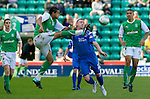 Hibs v St Johnstone.....30.04.11.David Stephens and Andy Jackson.Picture by Graeme Hart..Copyright Perthshire Picture Agency.Tel: 01738 623350  Mobile: 07990 594431