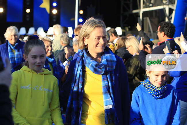 Catriona Matthew (Captain EUR) during the Opening Ceremony of the Solheim Cup 2019 at Gleneagles Golf CLub, Auchterarder, Perthshire, Scotland. 12/09/2019.<br /> Picture Thos Caffrey / Golffile.ie<br /> <br /> All photo usage must carry mandatory copyright credit (© Golffile | Thos Caffrey)