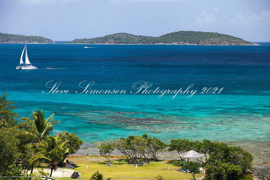 Sailboat off the point of Gallows Point<br />