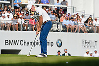 Brandt Snedeker (USA) watches his putt on 18 during Rd4 of the 2019 BMW Championship, Medinah Golf Club, Chicago, Illinois, USA. 8/18/2019.<br /> Picture Ken Murray / Golffile.ie<br /> <br /> All photo usage must carry mandatory copyright credit (© Golffile | Ken Murray)