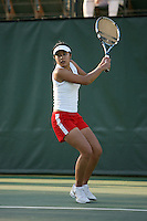 STANFORD, CA - JANUARY 30:  Jessica Nguyen of the Stanford Cardinal during Stanford's 6-1 win over the Colorado Buffaloes in the ITA Indoor Qualifying on January 30, 2009 at the Taube Family Tennis Stadium in Stanford, California.