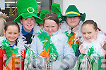 Currow girls Michaela Breen, Megan Fitzgerald, Rachel O'Connor, Mollie O'Callaghan and Rhianne Gallagher at the Castleisland St Patricks Day parade on Monday   Copyright Kerry's Eye 2008
