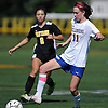 Paulina Valentine #11 of Kellenberg gains control during a non-league varsity girls soccer game against host Wantagh High School on Saturday, Sept. 29, 2018. She broke a scoreless tie with a goal in the 58th minute of play (17:12 into second half). Kellenberg went on to win 3-0.