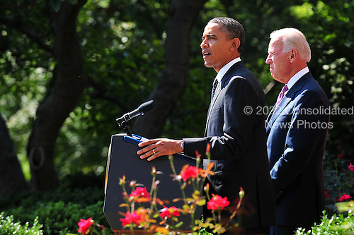 United States President Barack Obama speaks on his jobs creation bill in the Rose Garden at the White House in Washington on September 12, 2011.  Obama was joined by Vice President Joe Biden..Credit: Kevin Dietsch / Pool via CNP