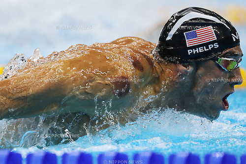 Michael Phelps (USA), <br /> AUGUST 6, 2016 - Swimming : <br /> Men's 200m Butterfly Semi-final <br /> at Olympic Aquatics Stadium <br /> during the Rio 2016 Olympic Games in Rio de Janeiro, Brazil. <br /> (Photo by Koji Aoki/AFLO SPORT)