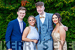 Eoin Griffin Lillie Foley Tom Keane and Ciara O'Mahony, pictured at MIlltown Presentation Secondary School Debs, held at the Earl of Desmond Hotel, Tralee, on Thursday, July 25th last.