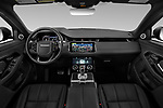 Stock photo of straight dashboard view of a 2020 Land Rover Range Rover Evoque First Edition 5 Door SUV