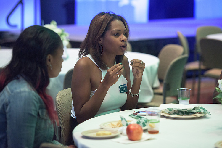 Ohio University Alumi, Jillian Causey, attends the Black Alumni Reunion's Student and Alumni Networking event held at the Baker Center Ballroom on Friday, September 16, 2016.