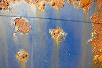 rusted metal and old paint textures